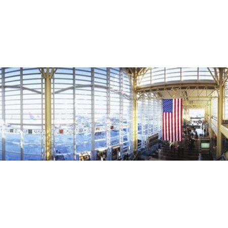 Interior of an airport Ronald Reagan Washington National Airport Washington DC USA Stretched Canvas - Panoramic Images (15 x - Reagan National Airport