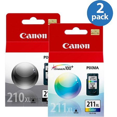 Canon XL PG 210/ 211 Ink 2 Pack Value Bundle (Canon Pg 210 Xl Black Ink Tank)