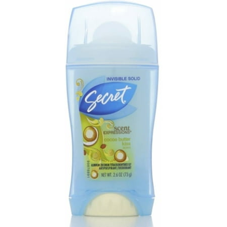 Secret Passionate Kisses (Secret Scent Expressions Anti-Perspirant Deodorant Invisible Solid Coco Butter Kiss 2.60 oz (Pack of 6))
