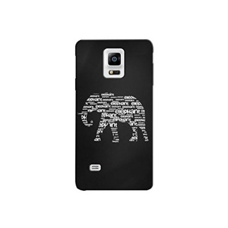 Cute Worded Elephant Design Plastic Back Cover For Samsung Galaxy S4 Case By iCandy Products