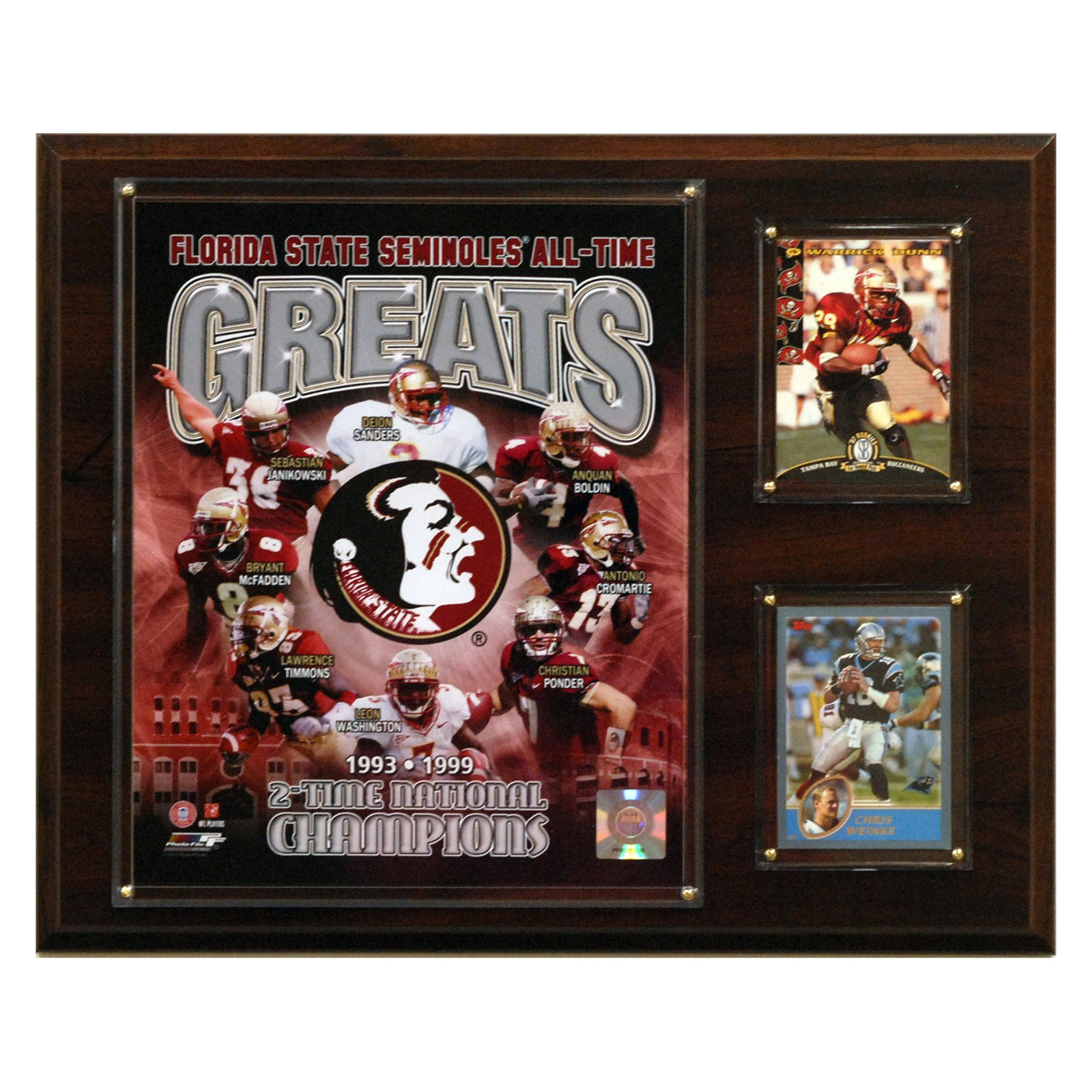 NCAA Football 12 x 15 in. Florida State Seminoles All-Time Greats Photo Plaque