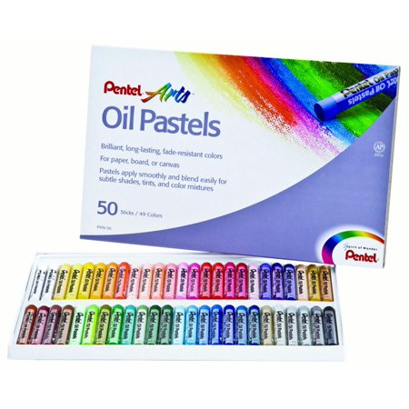 pentel arts oil pastels 50 color set walmart com