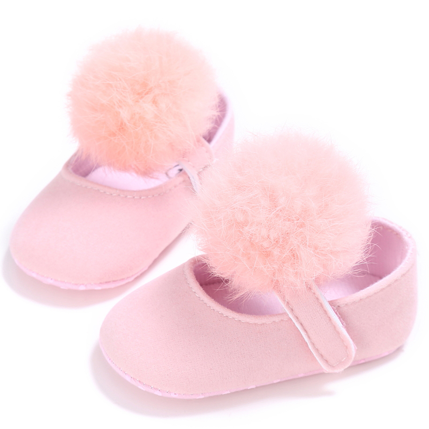 Baby Girl Crib Shoes Infant Princess Pom Pom Summer Sandals 3 6 9 12 18 Months