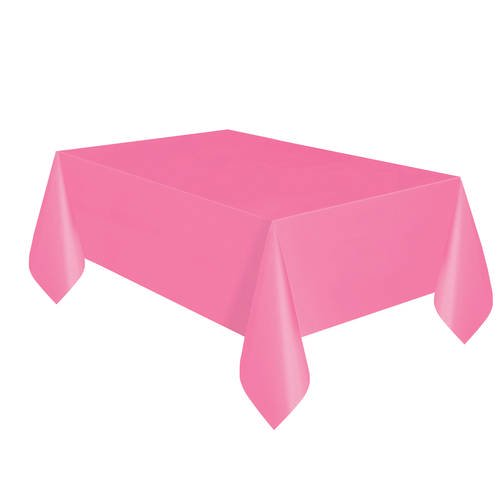 Hot Pink Plastic Party Tablecloths, 108 x 54in, 2ct