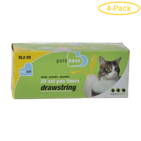 Van Ness Drawstring Cat Pan Liners Large (20 Pack) - Pack of -