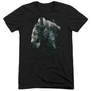 Dark Knight Rises Bane Rain Mens Tri-Blend Short Sleeve Shirt
