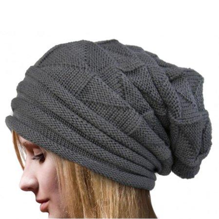 Outtop Women Winter Crochet Hat Wool Knit Beanie Warm Caps GY