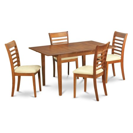 East West Furniture Milan 5 Piece Small Space Rectangular Dining Table -