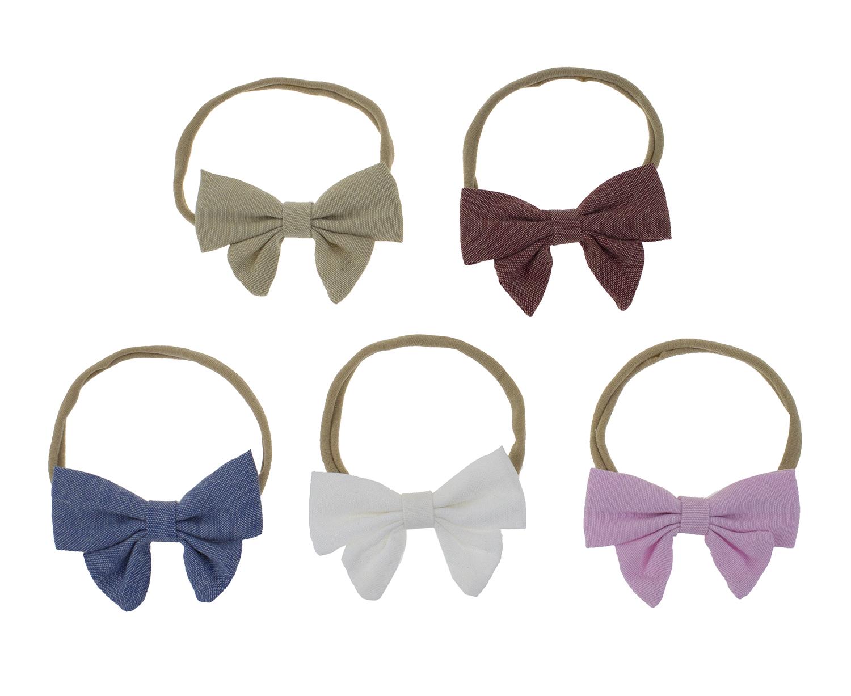 cotton headbands newborn headbands baby girl headband Stripes headbands soft bow headbands baby bow headbands baby accessories
