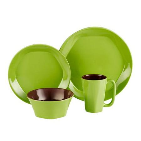 - ColorUs China Glycon 16 Piece Dinnerware Set, Service for 4