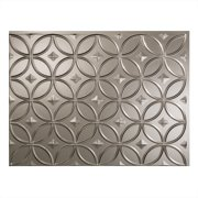 "Fasade Easy Installation Rings Brushed Nickel Backsplash Panel for Kitchen and Bathrooms (18"" x 24"" Panel)"