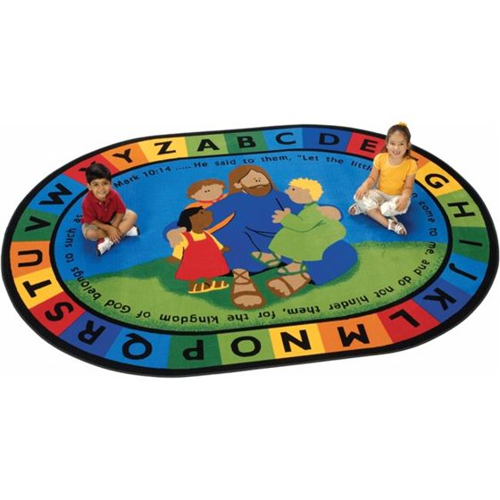 Carpets for Kids 72006 Jesus Loves the Little Children Rug&
