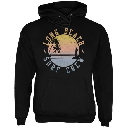 Beach Adult Sweatshirt (Long Beach Surf Crew Black Adult)