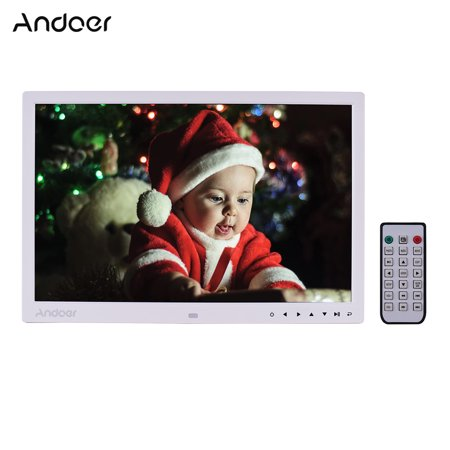 Andoer Upgraded 17 Inch LED Digital Photo Frame Electronic Picture Photo Album 1080P Advertising Machine 1440*900 High Resolution Scroll CaptionTouch Button Control with Remote Control
