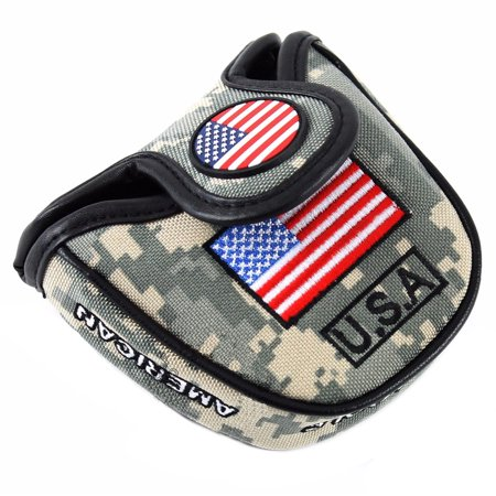 NEW USA Camo Military Magnetic Mallet Putter Headcover For Scotty Odyssey 2-Ball