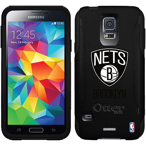 Brooklyn Nets Primary Logo Design on OtterBox Commuter Series Case for Samsung Galaxy S5