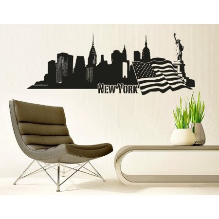New York City Skyline Wall Decal cityscape wall decal sticker mural vi