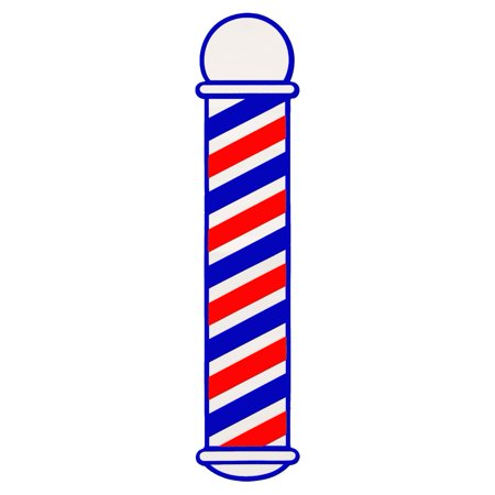 SCALPMASTER Striped Barber Pole Cling Window Decal Sticker BK-SC-9015