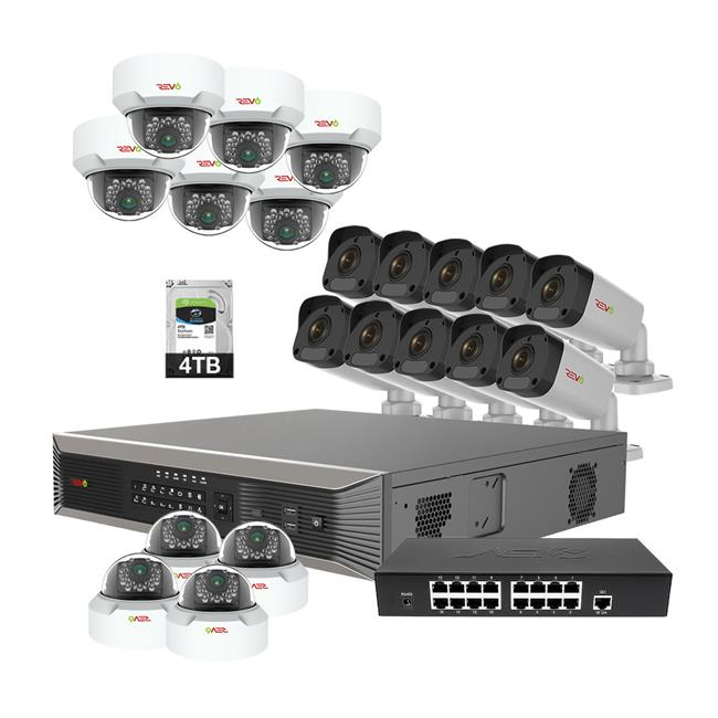 Ultra Plus HD 32 Channel 4TB NVR Surveillance System with 20 x 4 Megapixel Cameras
