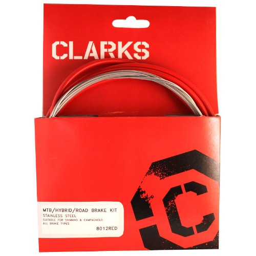 Clarks Stainless Steel Brake Kit Compatible with MTB / Hybrid / Road Red