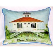 Betsy Drake HJ726 Boca Grande Lighthouse Large Indoor-Outdoor Pillow  15 in. x 22 in.