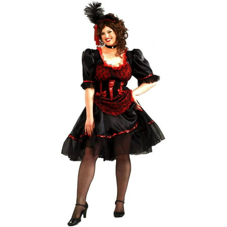 Saloon Girl Women's Plus Size Adult Halloween Costume, Women's Plus