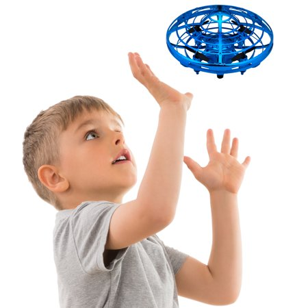 Scoot Hand Operated Mini Drone Helicopter, Easy Indoor Small Orb Hands Free Drone