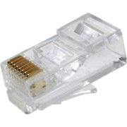 Weltron Rj-45, 8p8c Modular Plug For Cat5e Rated Round Cable - 100 Pack - 1 X Rj-45 Male (44-751-8rsol)