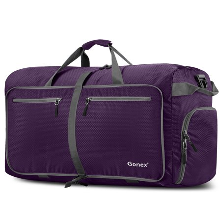 Gonex 100L Foldable Travel Duffel Bag, Over-sized Luggage Travel Duffle 5 Colors Options - Purple Duffle Bag