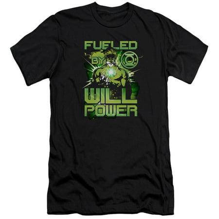 Green Lantern Fueled Mens Premium Slim Fit Shirt
