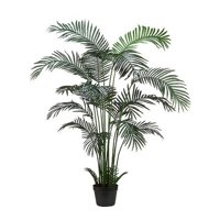 6 Foot Artificial Realistic Areca Palm Tree x 18 in Plastic Pot - 2pcs (sold in Pairs)