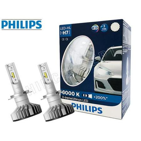 H7 - PHILIPS 6000K X-treme Ultinon 12985BWX2 LED Headlight Bulbs