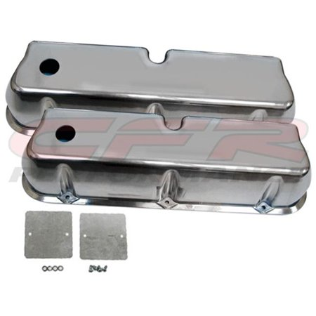 CFR HZ-6728-POL 1962-85 Ford Small Block 289-302-351W-5.0L Tall Polished Aluminum Valve Covers - Smooth