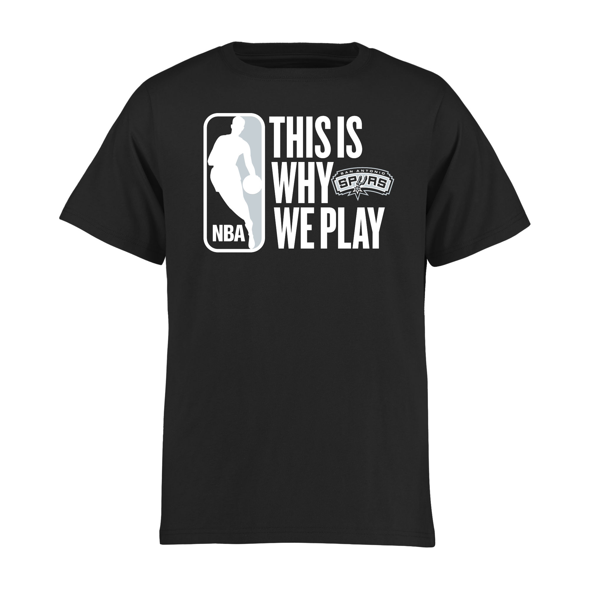San Antonio Spurs Youth This Is Why We Play T-Shirt - Black