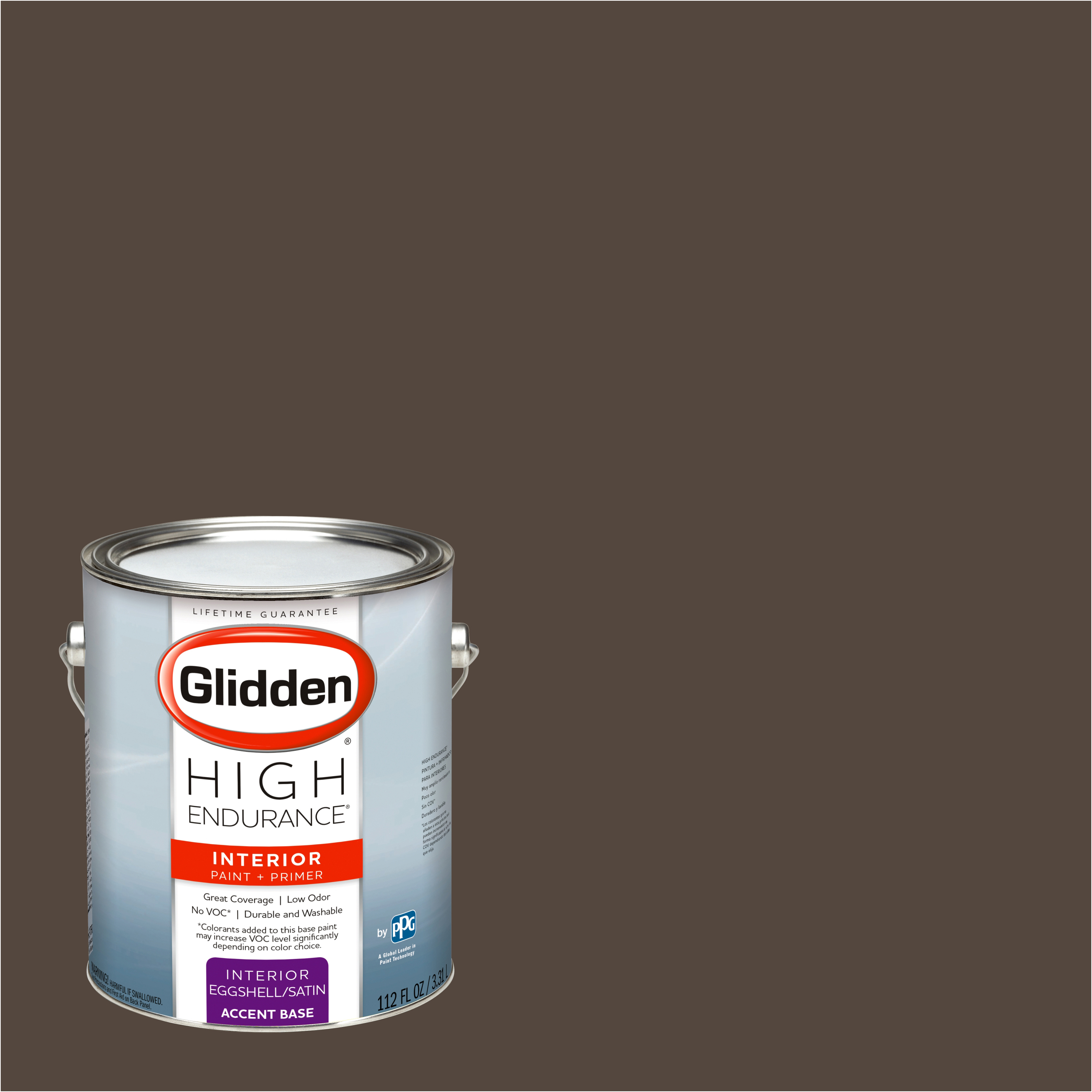 Glidden High Endurance, Interior Paint and Primer, Earth Brown, # 00YY 07/093
