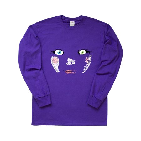 Monster Faces Baby Doll Long Sleeve T-Shirt Goddess Baby Doll T-shirt
