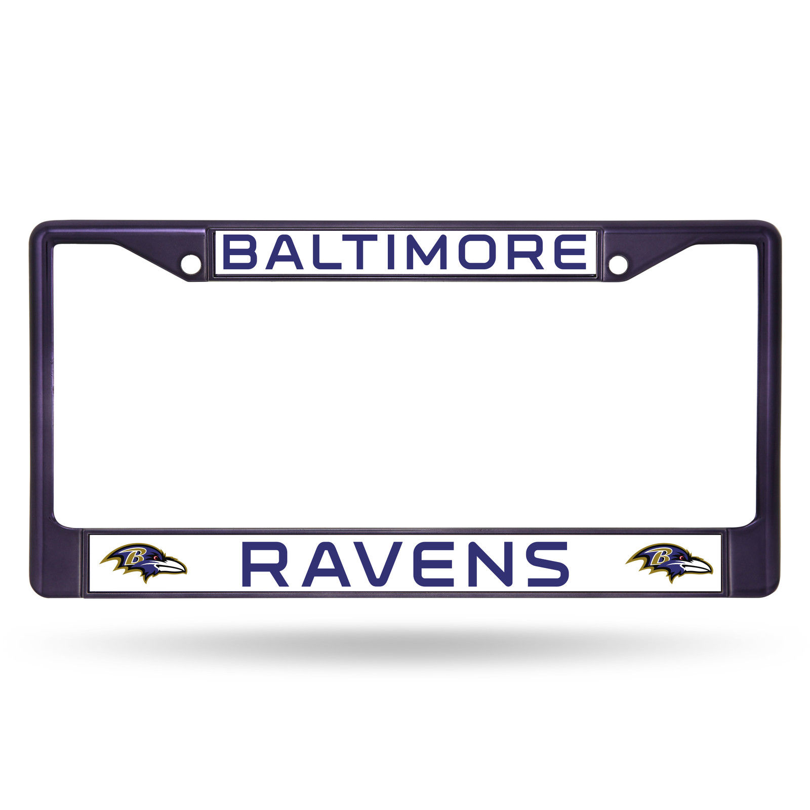 Rico Industries NFL Color License Plate Frame, Baltimore Ravens