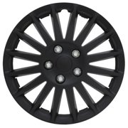 All Black 15 inch Indy Wheel Cover Set (Set of 4 Covers)