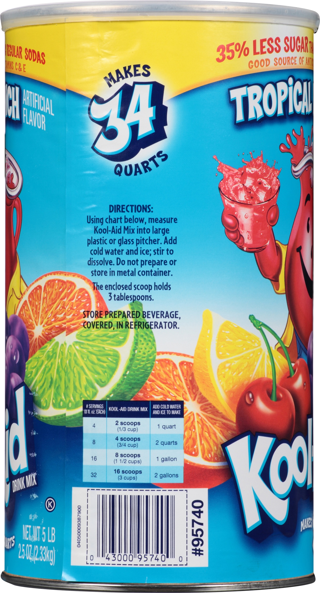 Kool aid drink mix tropical punch 825 oz 1 count walmart nvjuhfo Gallery