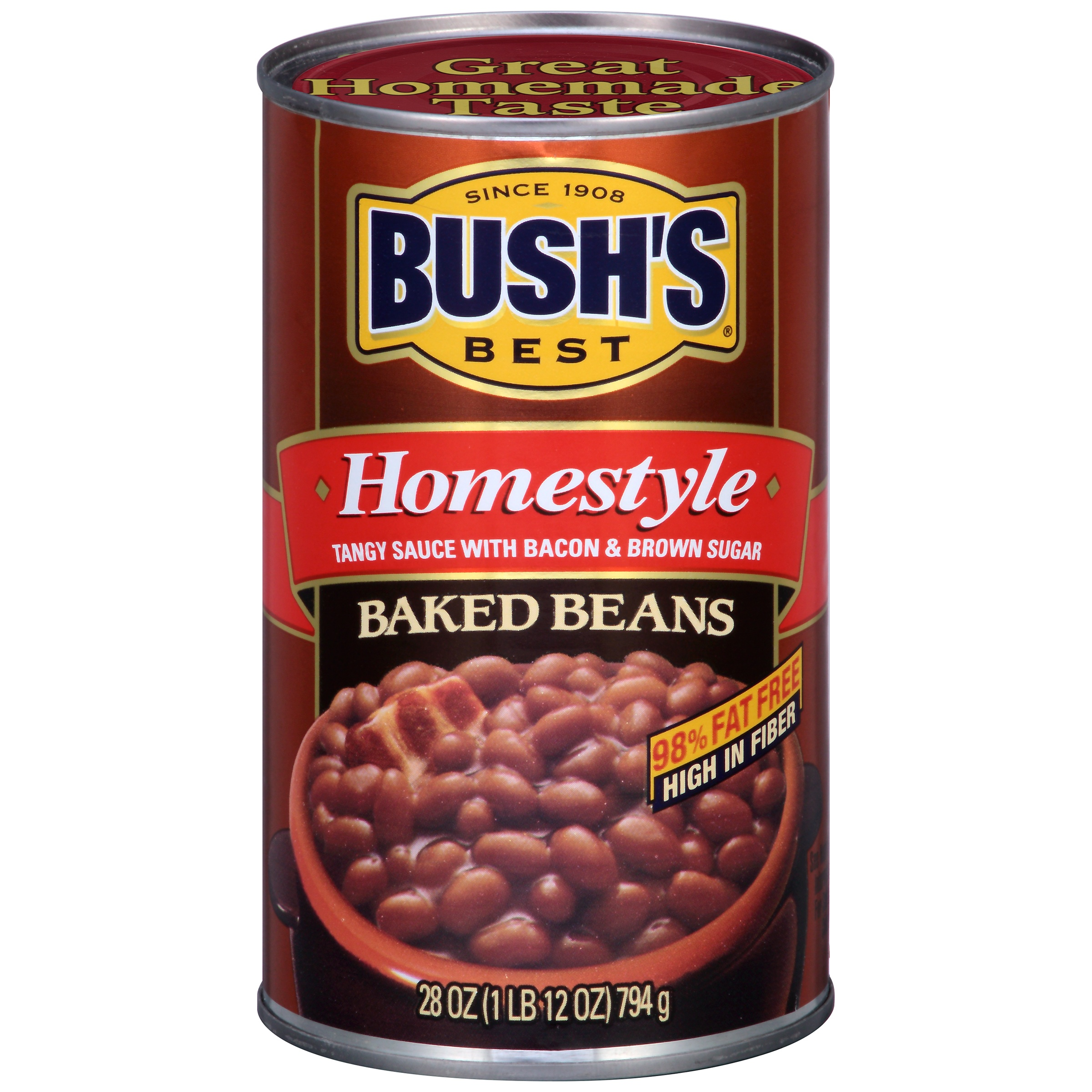 Bushs Best Homestyle Baked Beans, 28 oz by Bush Brothers & Company