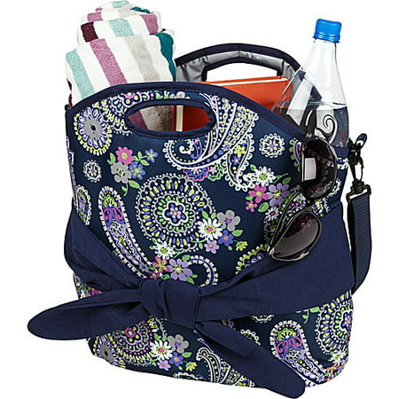 Maui Insulated Beach Bag Tote (Navy Summer Paisley) 1601FF470
