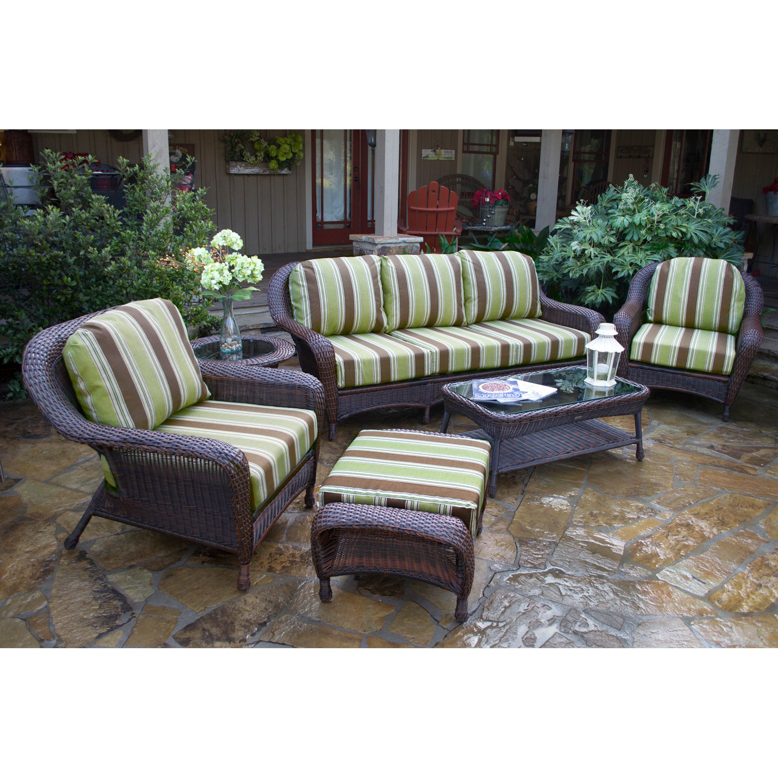 Tortuga Sea Pines 6 Piece Conversation Set with Sofa