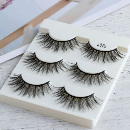 Mink Hair False Eyelashes Extension Thick Cross Long Cilia Eye Lashes 3