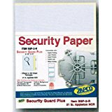 Laser Print Security Paper (SGP-2-R), Blue/Canary 21-lb 2-Part Carbonless, 8.5
