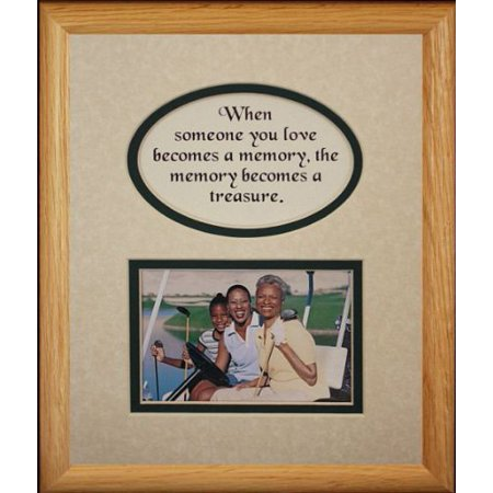 8X10 Memory Is A Treasure Picture & Poetry Photo Gift Frame ~ Cream/Hunter Green Mat * Memorial * Bereavement * Sympathy * Condolence Picture And Poetry Keepsake Gift Frame