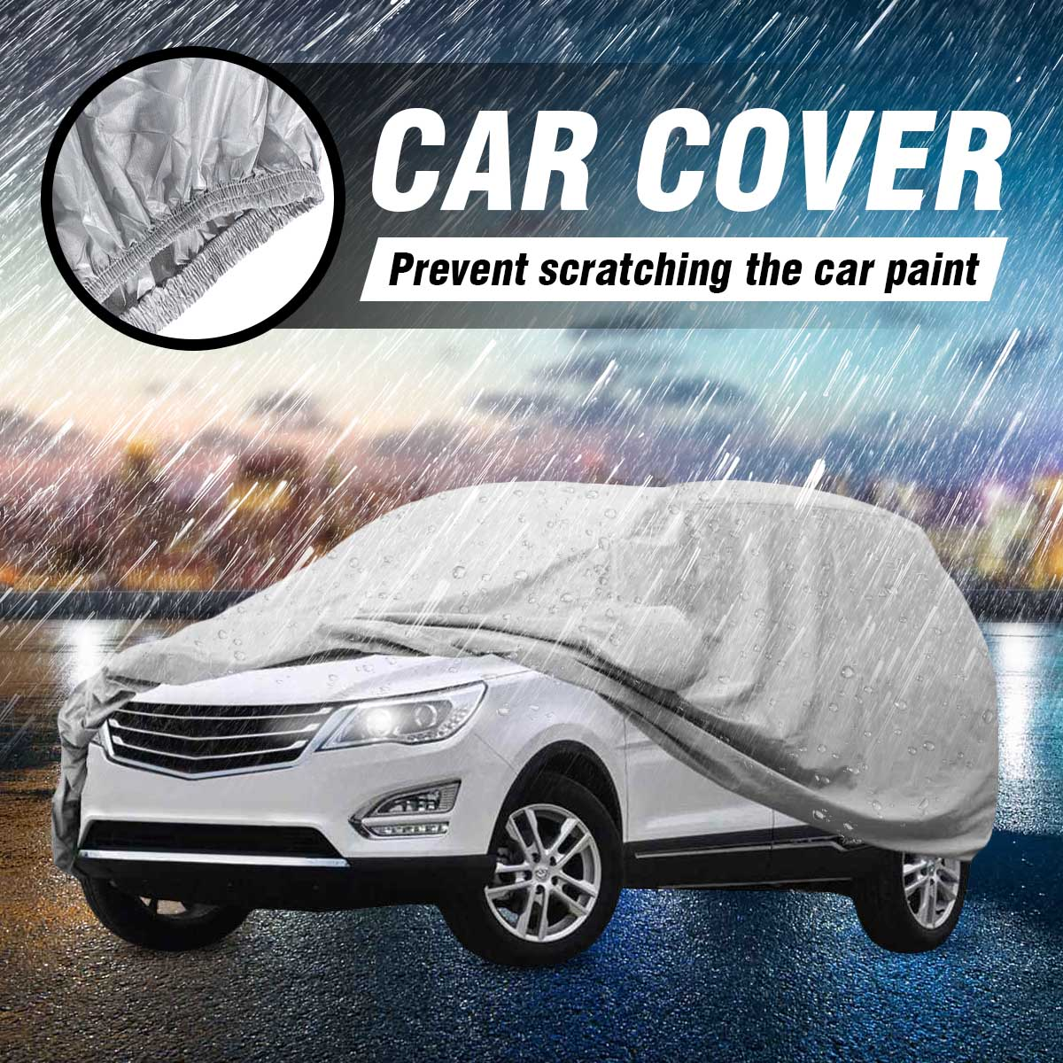 Tecoom HD Super Breathable Waterproof Windproof Snow Sun Rain UV Protective Outdoor All Weather SUV Cover Fit 180-195 inches SUV