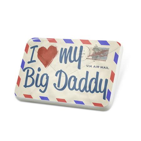 Porcelein Pin I Love my Big Daddy, Vintage Letter Lapel Badge – NEONBLOND