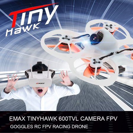 EMAX Tinyhawk Brushless 600TVL Camera RC Racing Drone with FPV Goggles Transmitter Shoulder Bag (Best Fpv Goggles For The Money)