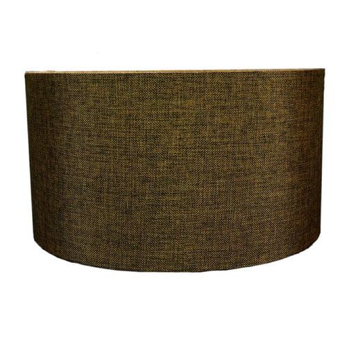 Home Concept Inc 18'' Shallow Burlap Drum Lamp Shade