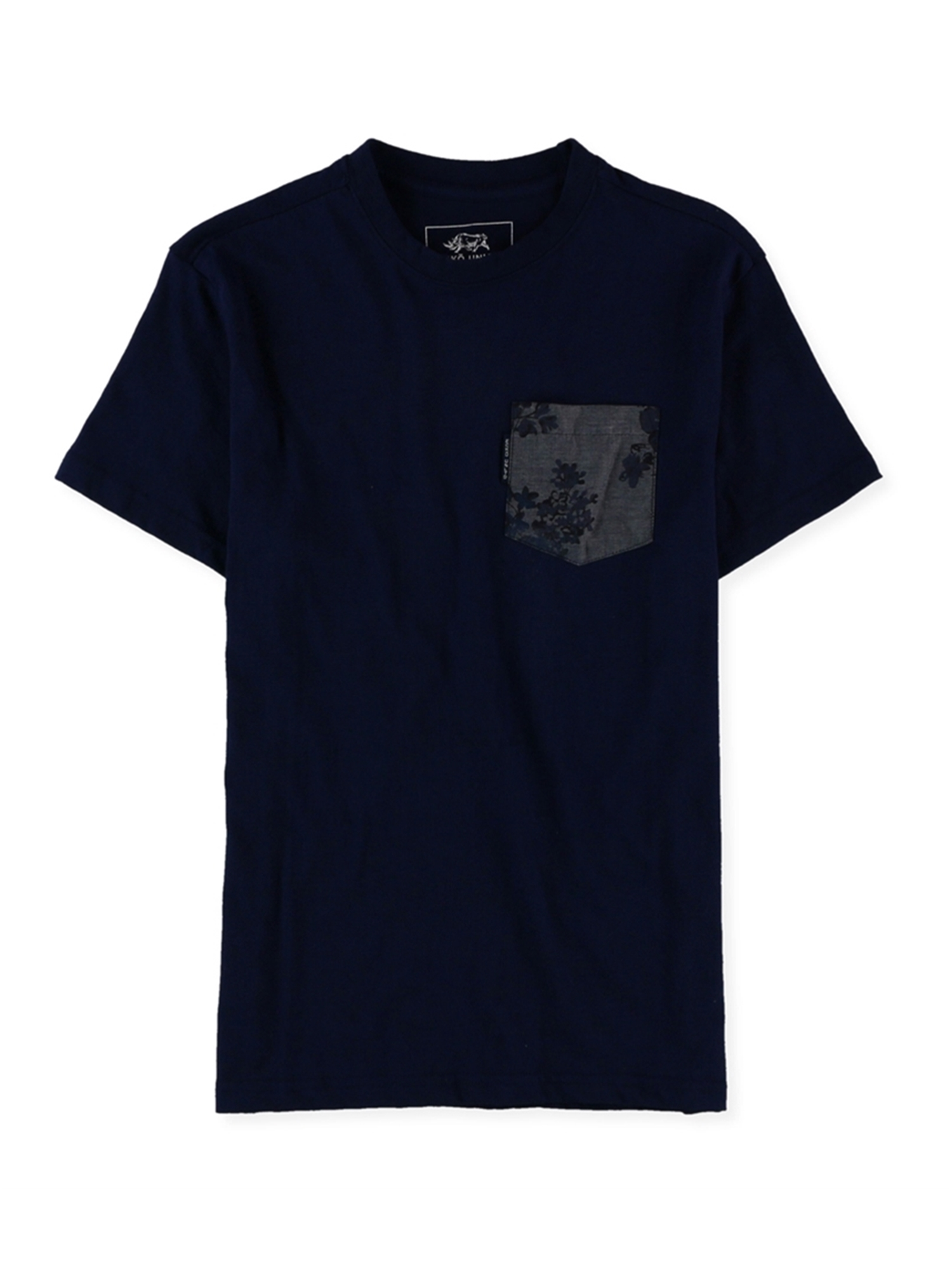 Ecko Unltd Big and Tall 3XLT Blue Black Gray Long Sleeve Crew Neck Shirt